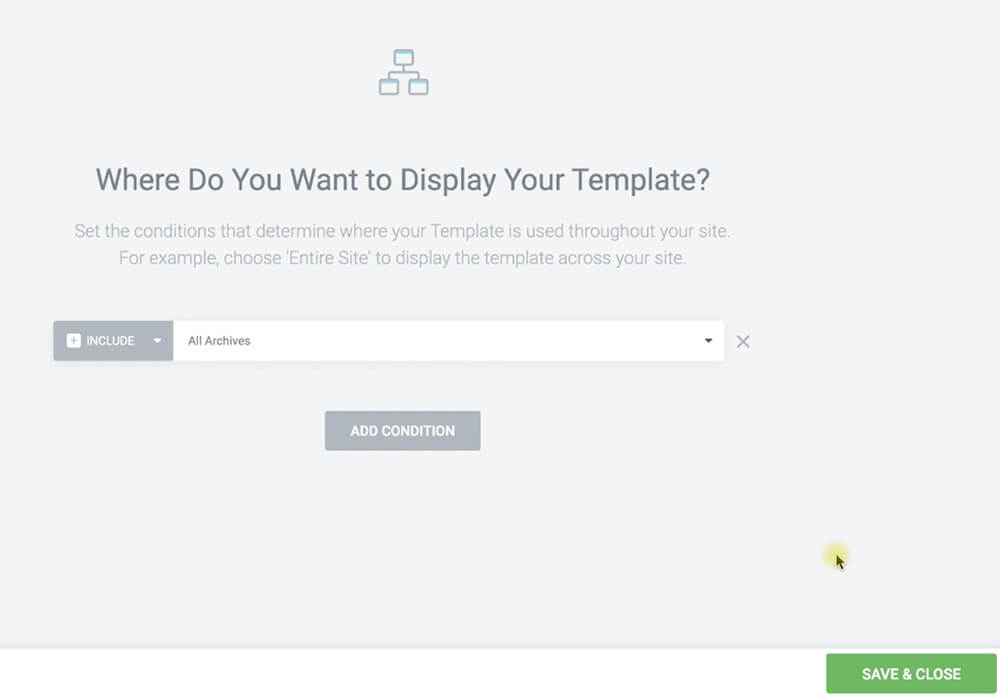 Add condition to display archive template