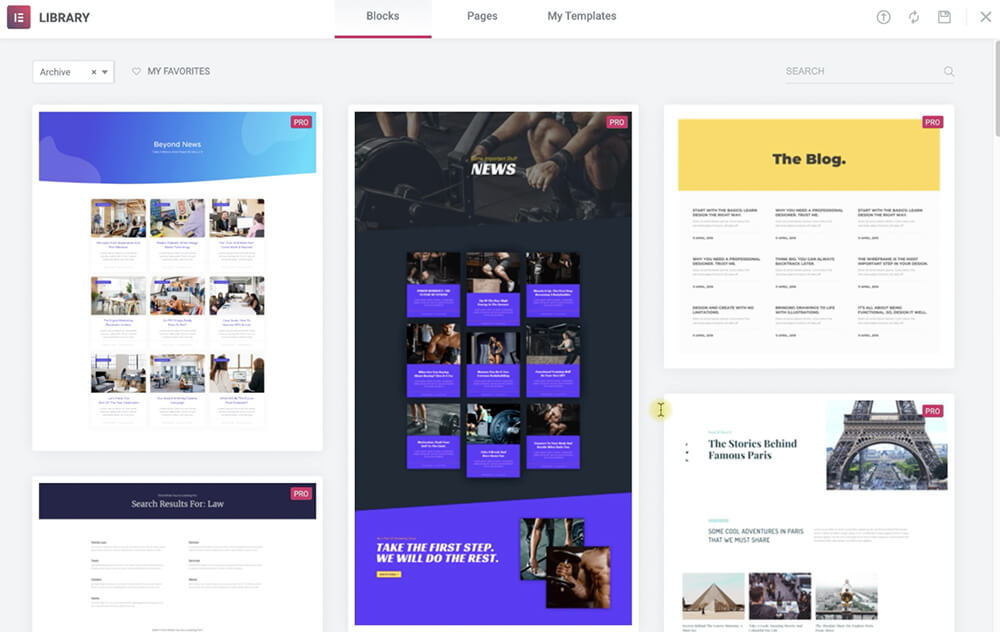 Archive page templates