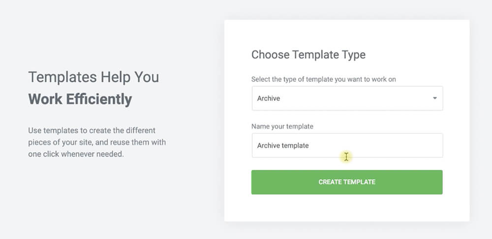 Create an archive page template