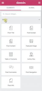 Post related widgets