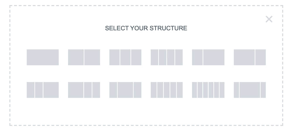 Select Elementor structure