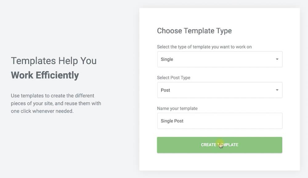 create a post template