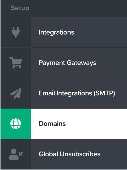 Clickfunnels domains tab