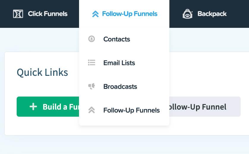 Follow up funnels tab