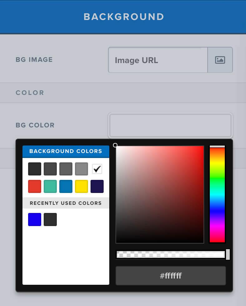 Funnel solid background color