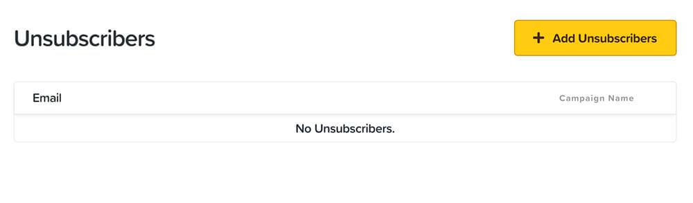 Global unsubscribers