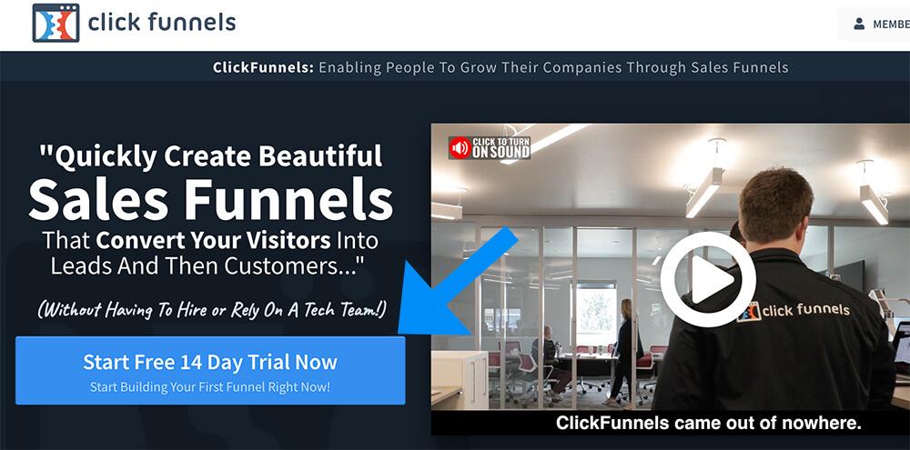 Start clickfunnels free trial