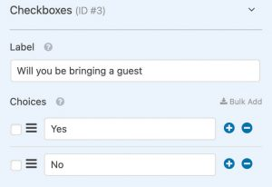 Add checkboxes question