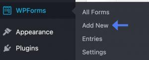 Add new form with WPForms plugin