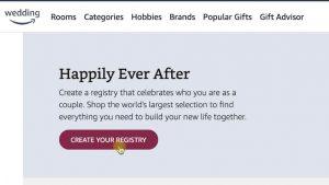 Create wedding gift registry